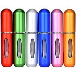 Queta Atomiseur Parfum Portable Atomiseur vide Flacon Mini Bouteille de Parfum Rechargeable Atomiseur 5ml (6pcs)