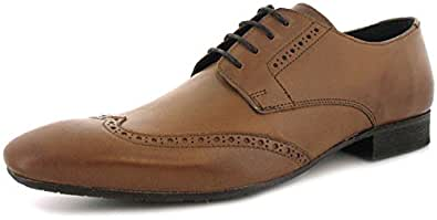 New Mens/Gents Tan H By Hudson Leather Upper Lace Up Formal Shoes. - Tan - UK SIZE 12