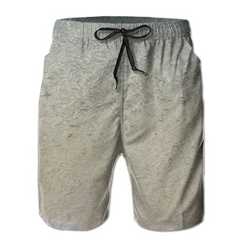 KKONEDS Men's Swim Trunks Beach Clear Sea Sand Ocean Beach Wear Board Casual Running Shorts Quick Dry Swimming for Summer, X-Large (Running Danskin Shorts)