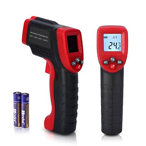 Thermomètre Infrarouge IR Laser Numérique Sans Contact Sonde De Température -50 - 550 ℃(-58 ℉ ~ 1022 ℉) avec Écran LCD Rétroéclairé et Configuration de Lalarme Haute Basse Température