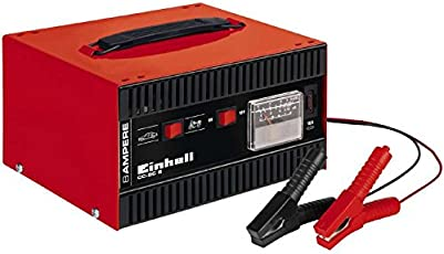 Einhell cc-BC 8Ladegerät, eingebautes Amperemeter, Rot/Schwarz