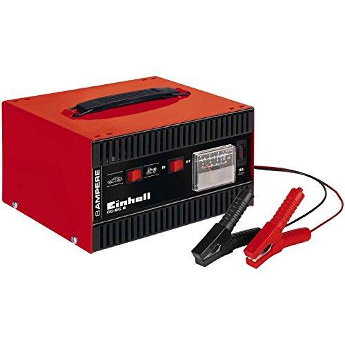 einhell batterie ladegeraet Einhell cc-BC 8Ladegerät, eingebautes Amperemeter, Rot/Schwarz