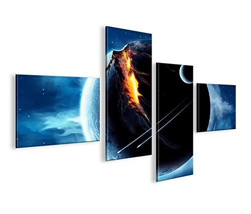 islandburner Bild Bilder auf Leinwand Wars V5 4L Star Weltall XXL Poster Leinwandbild Wandbild Dekoartikel Wohnzimmer Marke