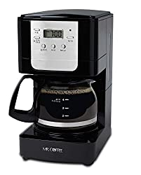 Mr. Coffee BVMC-JWX3 700-Watt 5-Cup Programmable Coffee Maker (Black/Silver)