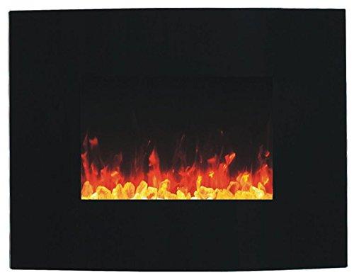 Camino elettrico Glow Fire Merkur Curved, parete camino elettrico (1500�Watt Termoventilatore color