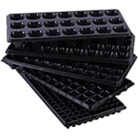 Yardwe 5 UNIDS Bandejas de inicio de plántulas de jardinería brotes suculentos Bandeja de placa de plántula plana 21 agujeros