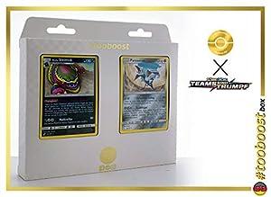 Alola-Sleima (Grotadmorv de Alola) 84/181 & Panzaeron (Airmure) 98/181 Tooboost X Sonne & Mond 9 Teams Sind Trumpf - Juego de 10 Cartas Pokémon alemanas + 1 Goodie Pokémon