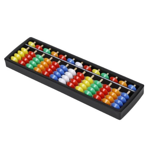 Portable Plastic Abacus Arithmetic Soroban Calculating Tool, 13 Rods with Colorful Beads, Great Educational Tool for Kids