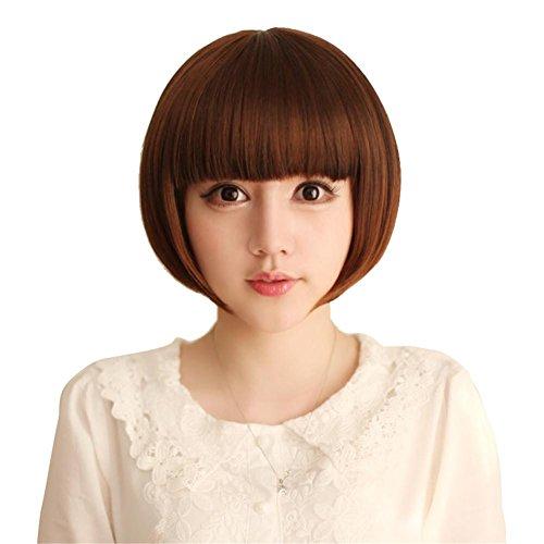 TT Frau fashion Perücke gut aussehende kurze glatte Haare (Gut Aussehende Kostüme Einfach)