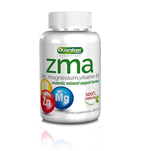 Quamtrax Nutrition Suplemento ZMA - 100 Cápsulas