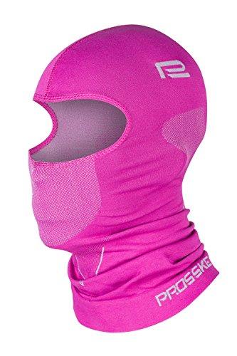 Prosske Sturmhaube XDry SH2 Damen Herren Kinder Skihaube Balaclava Sturmmaske viele Farben (Rosa, M)