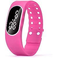 12shage Uhren Sport 746/5000 3IN1 Mens Womens Gummi LED LCD Quarzuhr Sport Armband Armbanduhr