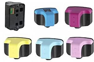 HP 363 Set,  6 Compatible High Capacity Ink Cartridges (1 Full Set) for Hewlett Packard HP Photosmart 3110, 3210, 3300, 3310, 8230, 8250, C5140, C5150, C5180, C6150, C6180, C6280, C7180, C7280, C8180, D6160, D7145, D7155, D7160, D7345, D7355, D7360, D7460 Best Replacement for HP363, HP 363, HP no 363, HP 363XL, C8721, C8721EE, C8771, C8771EE, C8772, C8772EE, C8773, C8773EE, C8774, C8774EE, C8775, C8775EE
