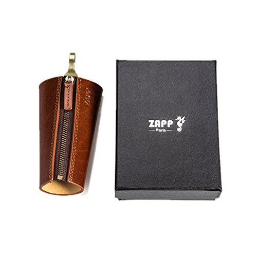 zapp-key-case-genuine-leather-brand-zapp-6-key-hooks-and-1-separated-house-car-key-ring