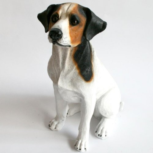 Hunde-Figur Jack Russell Terrier sitzend (Figur Russell Jack Terrier)