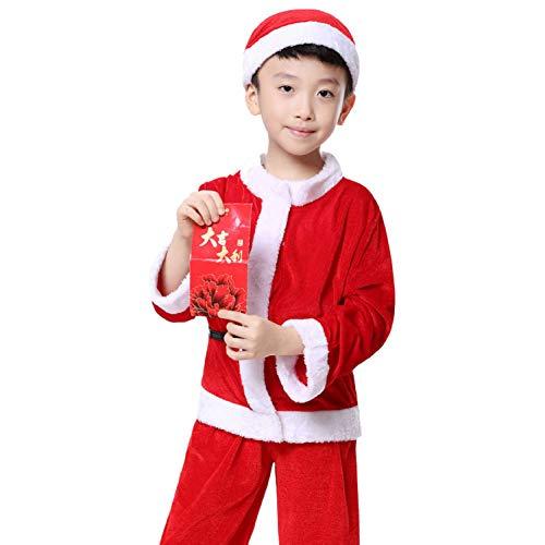 FAFY Erwachsene Weihnachtskostüm Für Kinder, Bühnenleistungskostüm, Theaterkostüm, 110cm-150cm,B140cm