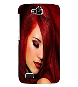 ColourCraft Beautiful Girl Design Back Case Cover for HUAWEI HONOR HOLLY