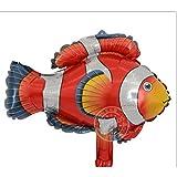 MTCTK 5 Pezzi 25 * 45 Cm Pesce Palloncini Animali Festa di Compleanno Squalo Aragosta Polpo Pagliaccio Pesce Aria Balaos Mare Tema Festa Compleanno Decorazione,Palloncino Pesce Pagliaccio