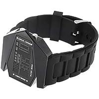 Detectoy Reloj LED, Relojes Deportivos únicos para la Salud Hombres Luz Deportes Digitales Cuarzo Silicona Moda Reloj de Pulsera para Hombres Reloj para Hombre