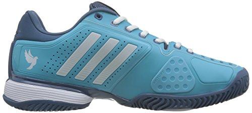 adidas Herren Novak Pro Tennisschuhe, Mehrfarbig Blau (Blue Glow/Ftwr White/High Steel)