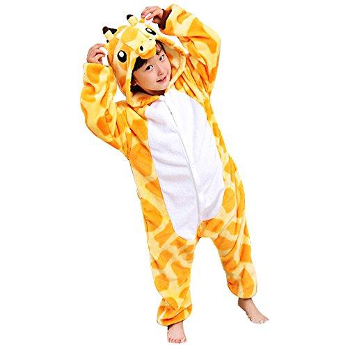Rainbow Fox Kinder Giraffe Kostüme Einhorn Pyjama Tier Nachtwäsche Karikatur Cosplay Kleider zum Kinder niedriger als 130cm im Höhe(#130 (Höhe 120-130cm), Giraffe)