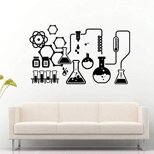 Hhyyoo Chemische Wissenschaft Wandtattoo School College Tool Ausrüstung Design Board Chemische Wandaufkleber Applique Vinyl Wandbild Dekoration 72 * 42 Cm