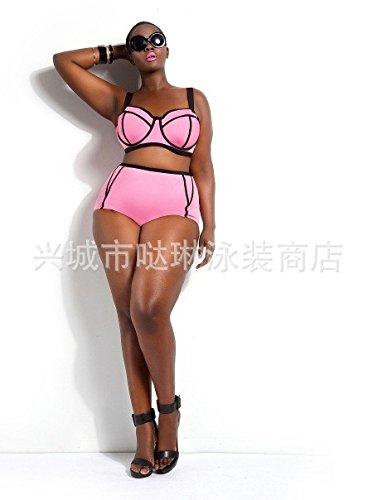 bikini-di-colore-puro-di-grasso-vita-alta-sexy-costume-da-bagno-xl-rosa2xl