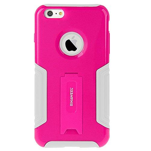 iPhone 6S Plus Case, HAWEEL ® iPhone 6 Plus/iPhone 6S Plus(5.5) Custodia con supporto - Dual Layer TPU custodia plastica combinata con cavalletto per iPhone 6 Plus/iPhone 6S Plus, Baby Blue Magenta