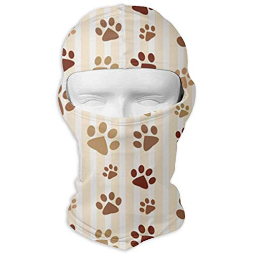Miedhki Dog Paw Prints Outdoor Cycling Ski Balaclava Mask for Cycling Outdoor Sports Full Face Mask Breathable New3 Paw Prints Hoodie