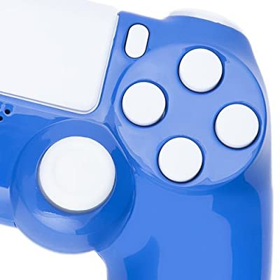 Playstation 4 Custom Controller -Electric Blue & White