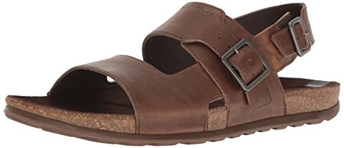 Merrell Herren Downtown Backstrap Buckle Sandalen, Braun (Dark Earth), 44 EU