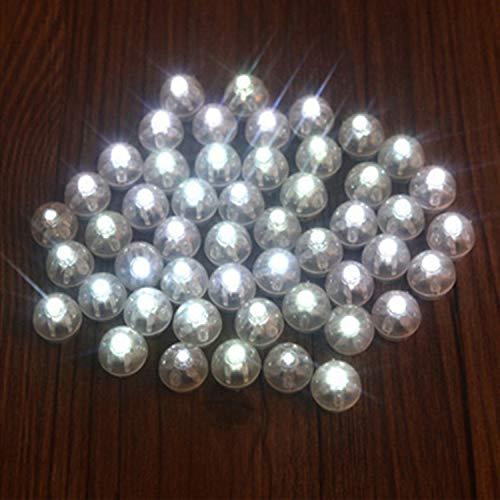JVSISM 10pcs Mini Runde Ball LED Ballon RGB Lichter Valentinstag Flash Lampen fuer Laterne Weihnachten Halloween Hochzeit Dekoration Weiss