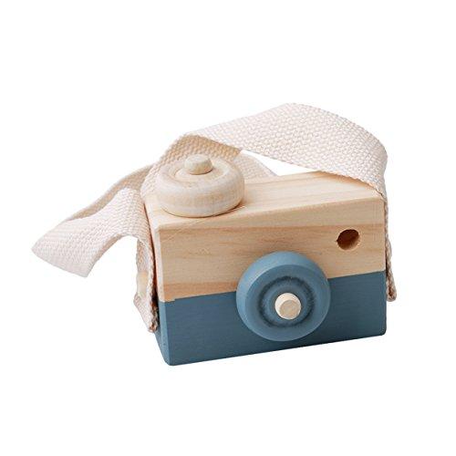 Lalang Blau Niedliche Baby Kinder Holz Kamera Spielzeug Kindermode Bekleidung Accessory Zubehör,Als beste Geburtstagsgeschenk für Baby