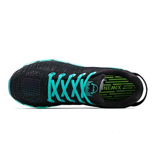 Onemix Air Herren Laufschuhe für das Training auf der Straße Sneaker Schwarz / Grün