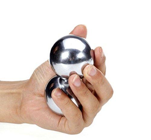 2pcs Un par sólido de nuevo 50mm Baoding Bolas chinas salud ejercicio bolas de estrés sobre 0,65kg