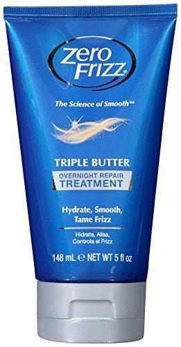 Zero Frizz Triple Butter Overnight Treatment, 5 Ounce by Zero Frizz