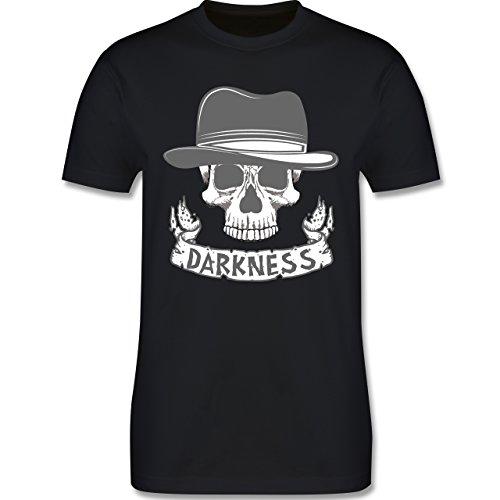 Biker - Darkness Skull Top Hat - XXL - Schwarz - L190 - Das Beste Männer Shirt von (Biker Schwarze Hut)