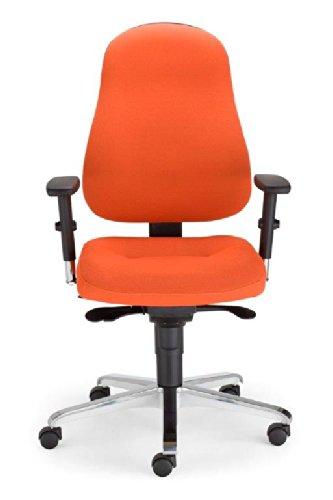 Drehstuhl Bizzi mit 3D Armlehnen - Bürodrehstuhl mit Synchron-Mechanik Schreibtischdrehstuhl (Schwarz) thumbnail