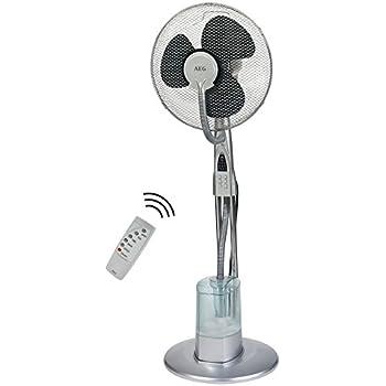 Klarstein Cool Tropic /• leistungsstarker Standventilator /• integrierter Luftbefeuchter /• WhisperFlow-Technologie /• Zuschaltbare Oszillation /• 48 Watt /• 8 Geschwindigkeiten /• Touchdisplay /• schwarz