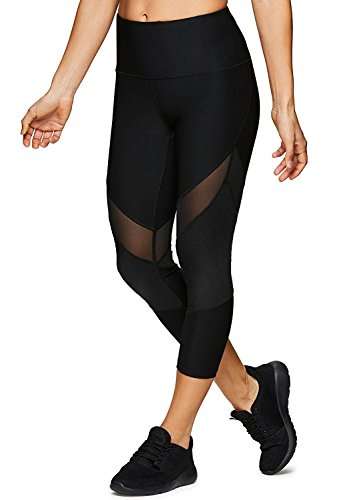 dh Garment Damen 3/4 Laufhose Sport Leggings Capris Yoga Pants kurz Training Tights mit Versteckte Tasche,Blickdicht (X029, Größe XL(Taille 74 cm - 77 cm))