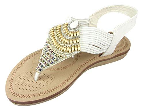 SavannahF0989 - Scarpe con cinturino alla caviglia donna White
