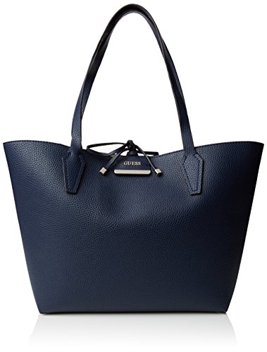 Guess Bobbi Inside Out Tote Borsa a Mano, Donna, Multicolore (Navy Multi)