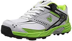 V22 Cricket Stud Shoe, Size 9 (Green/White)
