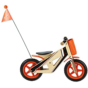 Classic World Toys CL2377 - Bicicleta de Madera, Color Naranja