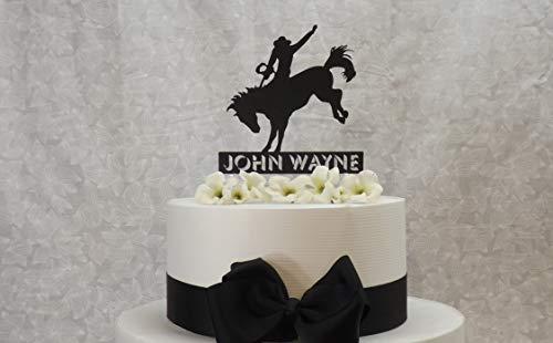 Bronco-Rodeo-Reiter Cake Topper f¨¹r die rustikale oder Land-Hochzeit, die mit Ihrem Namen personalisiert ist, ist einzigartig ()