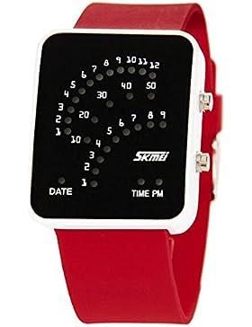 schön technologischen Sinn digitale wasserdichte Sport-Uhren Unisex Student stilvollen roten Uhren