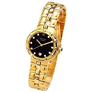 Oskar Emil Casablanca 300M – Reloj Diamante Oro Hombres, Con Esfera Negra