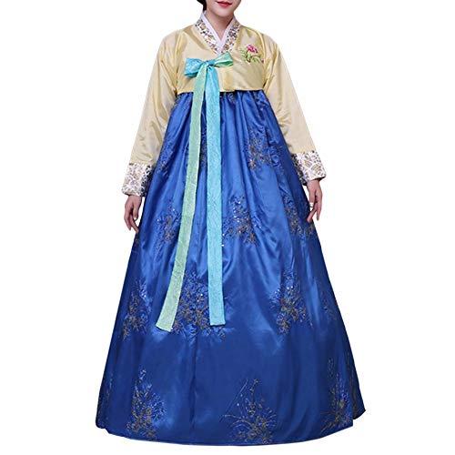 Koreanisches traditionelles klassisches Hanbok, langärmliges Aufflackernkleid, weibliches - Koreanisches Kostüm Frauen