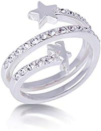 Disney Couture oro blanco-cristal plateado entrenza Tinkerbell y Anillo Estrella