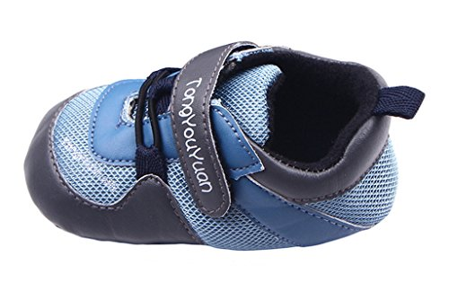 Bigood Liebe Baby Junge Schuhe Krabbelschuhe Lauflernschuhe Blau